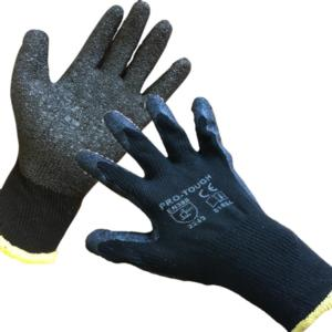 0162 Black Latex Grip Gloves