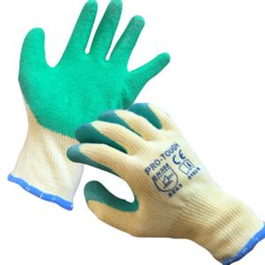 0162 Green Latex Grip Glove