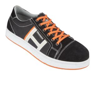 5126 Unisex Black and White Skater style safety trainer