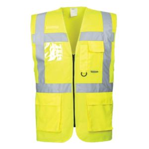 S476 Yellow High-Visibility Executive Vest