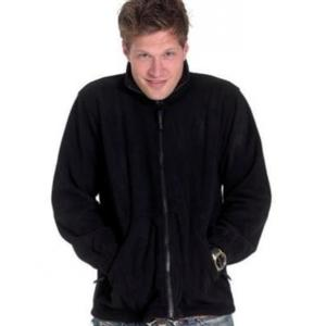UC604 Black Black Fleece Jacket