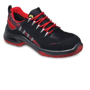 VD9300 S2 Red Black Nubuck Trainer