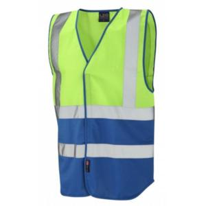 W05-Lime 2TONE Bi Coloured waistcoat Not EN ISO 20471