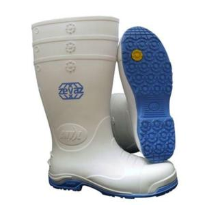 Zevaz Slip Resistant White Safety Wellington