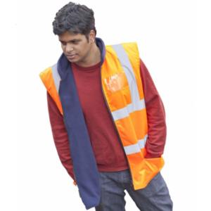 CPHVBWO Orange High-Visibility Bodywarmer