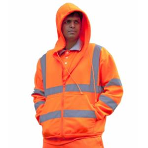 CPHVHSO Orange High-Visibility Hooded Sweatshirt
