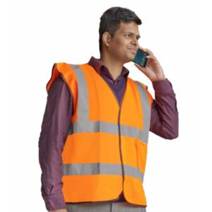 CPHVWSSO High-Visibility Orange Waistcoat