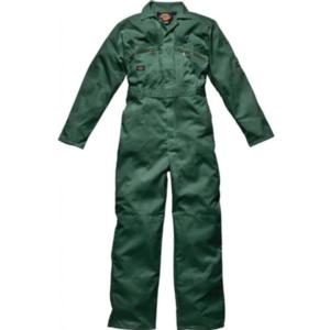 WD4839 Green Zip Boilersuit with Zipped pockets