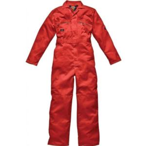 WD4839 Orange Zip Boilersuit with Zipped pockets