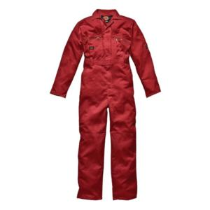 WD4839 Red Zip Boilersuit with Zipped pockets
